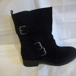 Just Fab Black Selene Boots Size 10 or 12